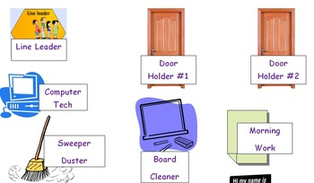 Student Job Labels for Pocket Chart