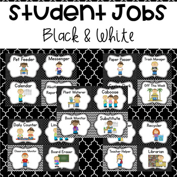 Student Jobs- Black and White