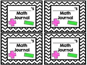 Student Journal Covers FREEBIE (math & writing)