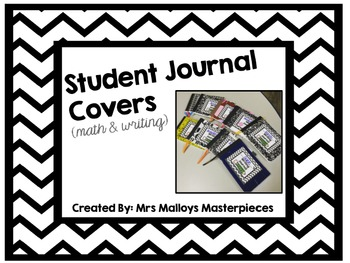 Student Journal Covers FREEBIE (math & writing)