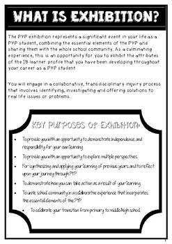 Student Journal (Exhibition Pack) IB PYP
