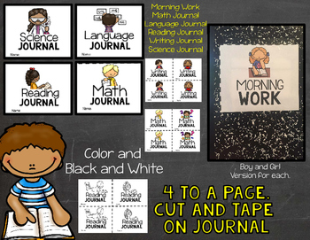 Student Journal Labels