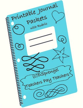 Student Journal Packet with Rubric for Middle and High School Across Disciplines