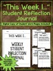 """Student Journal and Writing Prompts - """"This Week I...""""  {40 Weeks of Prompts}"""
