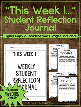 "Student Journal and Writing Prompts - ""This Week I...""  {40 Weeks of Prompts}"