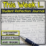 """Student Journal and Writing Prompts - """"This Week I...""""  {4"""