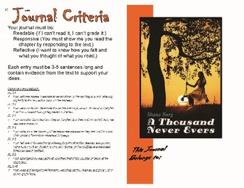 Student Journal for A Thousand Never Evers