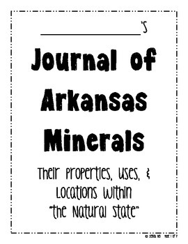 Student Journal of Arkansas Minerals