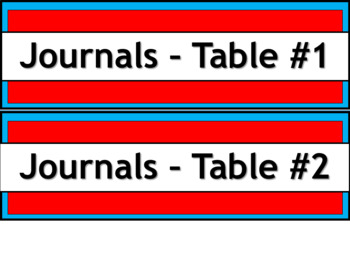Student Journals Storage Labels - Narrow V2 - Dr. Seuss Tribute