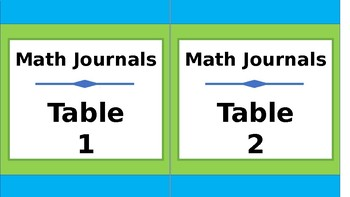 Student Journals Storage Labels - Tall - Lime & Teal
