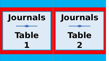 Student Journals Storage labels - Tall - Dr. Seuss Tribute Colors