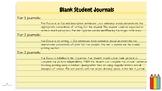 Student Journals (blank)