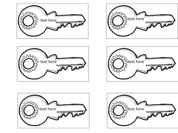 Student Key Rings for Keeping up with Passwords