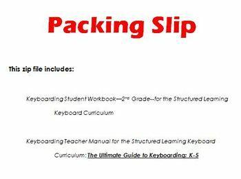 Student Keyboarding Workbook: 2nd Grade