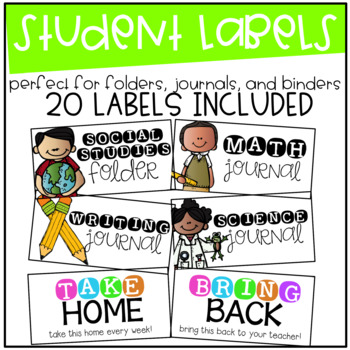 Student Label Pack