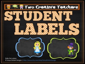 Student Labels - Alice in Wonderland Theme