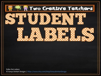 Student Labels Classroom Labels Circus Theme