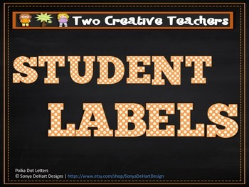 Student Labels Classroom Labels Circus Theme 2
