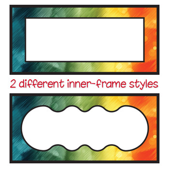 Student Labels - Editable [2x25 pack]