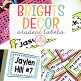 Editable Student Labels {Brights Classroom Set}