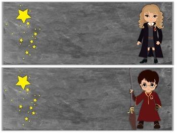 Student Labels - Harry Potter Theme