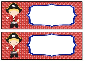 Student Labels - Pirate Theme 2