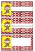 Student Labels - Sock Monkey Theme