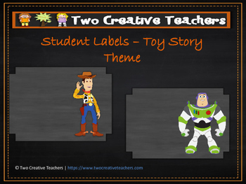 Student Labels - Toy Story Theme