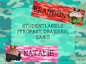 Student Labels for Trofast (Camo Edition)