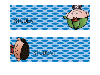 Student Labels for Trofast Storage System (Polka-Dots)