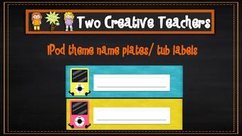 Student Labels - iPod Theme