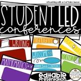 Student Led Conferences Templates Editable Digital Presentation and Portfolio