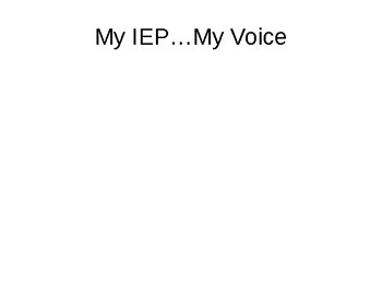 Student Lead IEP Power Point