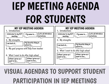 Iep Meeting Agenda Teaching Resources Teachers Pay Teachers
