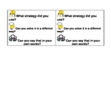 Student Leader Cards for Math Talk in Grades K-3