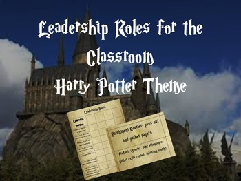 Student Leadership Board Harry Potter Theme (Upper Grades)