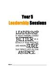 Student Leadership Booklet