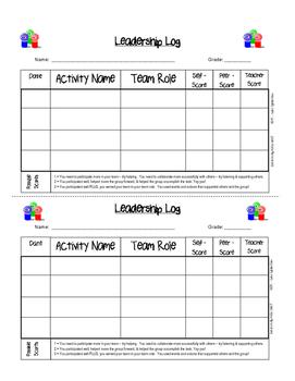 Student Leadership Log
