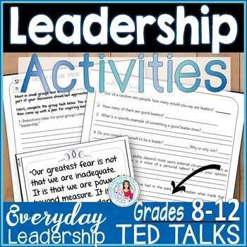 Student Leadership Positive Classroom Management Strategy TED Talk-Based Lesson