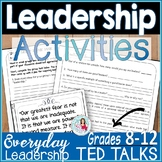 Leadership Activities   TED Talks Lesson   Classroom Management