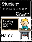 Student Learning Binder Cover
