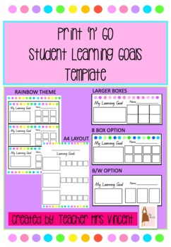 Student Learning Goals Template
