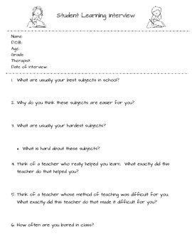 Student Learning Interview