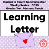 A Friendly Learning Letter: Student To Parent CCSS Grades 3-6