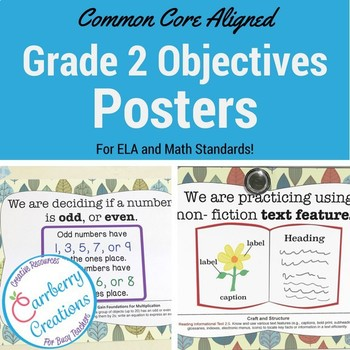Common Core Standards Posters for 2nd Grade Woodland Theme