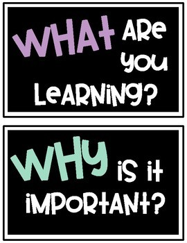 Student Learning Posters - Levels of Understanding & Self Reflection Questions