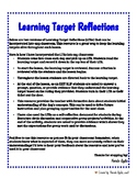 Student Learning Target Reflection Forms