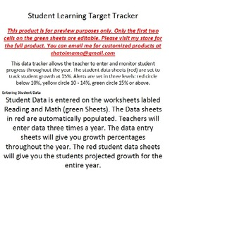 Student Learning Target Tracker
