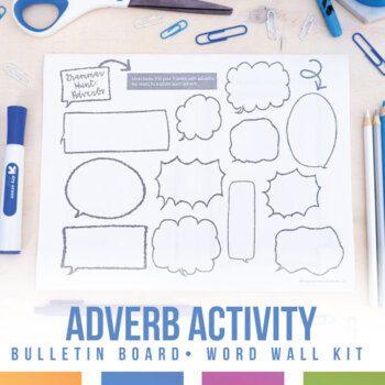 Student Led Adverb Grammar Lesson: Bulletin Board or Word Wall