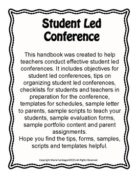 Student Led Conference (Pre and Post Conference Preparations)
